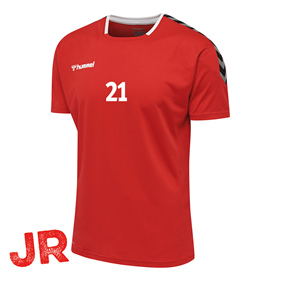 HUMMEL AUTHENTIC POLY JERSEY SS TRUE RED JR 116 CL