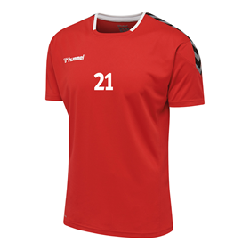 HUMMEL AUTHENTIC POLY JERSEY SS TRUE RED L