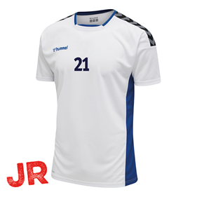 HUMMEL AUTHENTIC POLY JERSEY SS WHITE-TRUE BLUE JR 116 CL