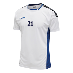 HUMMEL AUTHENTIC POLY JERSEY SS WHITE-TRUE BLUE L