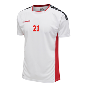 HUMMEL AUTHENTIC POLY JERSEY SS WHITE-TRUE RED L