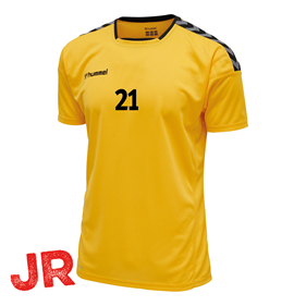 HUMMEL AUTHENTIC POLY JERSEY SS YELLOW-BLACK JR 116 CL