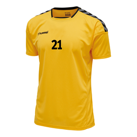 HUMMEL AUTHENTIC POLY JERSEY SS YELLOW-BLACK L