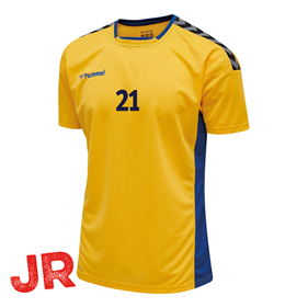 HUMMEL AUTHENTIC POLY JERSEY SS YELLOW-TRUE BLUE JR 116 CL