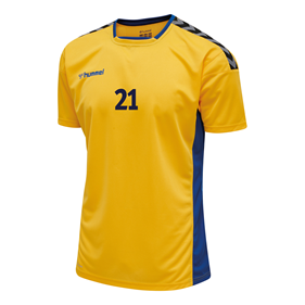 HUMMEL AUTHENTIC POLY JERSEY SS YELLOW-TRUE BLUE L