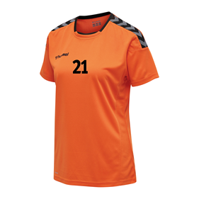 HUMMEL AUTHENTIC POLY JERSEY WN´S SS TANGERINE L