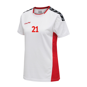 HUMMEL AUTHENTIC POLY JERSEY WN´S SS WHITE-TRUE RED L