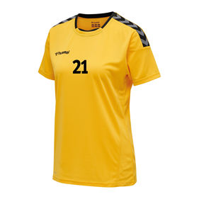 HUMMEL AUTHENTIC POLY JERSEY WN´S SS YELLOW-BLACK L