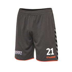 HUMMEL AUTHENTIC POLY SHORTS ASPHALT L