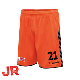 HUMMEL AUTHENTIC POLY SHORTS TANGERINE JR 116 CL