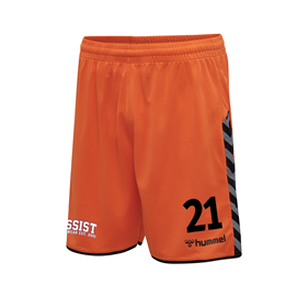 HUMMEL AUTHENTIC POLY SHORTS TANGERINE L