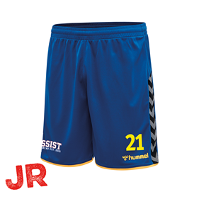 HUMMEL AUTHENTIC POLY SHORTS TRUE BLUE-YELLOW JR 116 CL