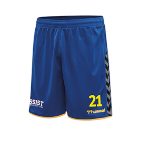 HUMMEL AUTHENTIC POLY SHORTS TRUE BLUE-YELLOW L