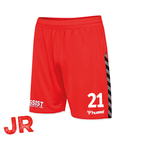 HUMMEL AUTHENTIC POLY SHORTS TRUE RED JR 116 CL