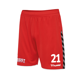 HUMMEL AUTHENTIC POLY SHORTS TRUE RED L