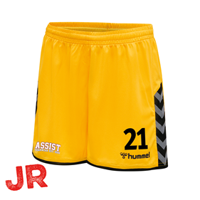 HUMMEL AUTHENTIC POLY SHORTS YELLOW-BLACK JR 116 CL