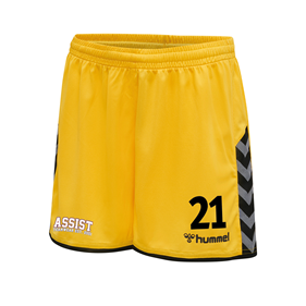HUMMEL AUTHENTIC POLY SHORTS YELLOW-BLACK L