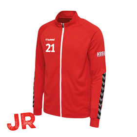 HUMMEL AUTHENTIC POLY ZIP JACKET TRUE RED JR 116 CL