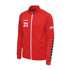 HUMMEL AUTHENTIC POLY ZIP JACKET TRUE RED L