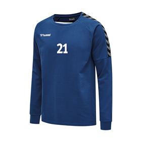 HUMMEL AUTHENTIC TRAINING SWEAT TRUE BLUE L