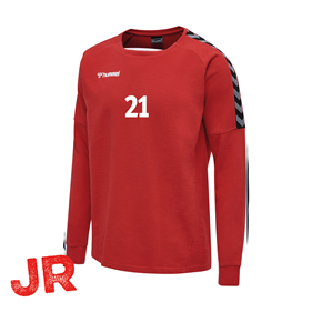HUMMEL AUTHENTIC TRAINING SWEAT TRUE RED JR 116 CL