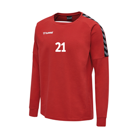HUMMEL AUTHENTIC TRAINING SWEAT TRUE RED L