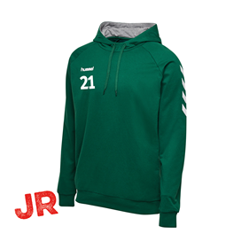 HUMMEL GO COTTON HOODIE EVERGREEN JR 116 CL