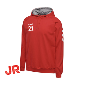 HUMMEL GO COTTON HOODIE TRUE RED JR 116 CL