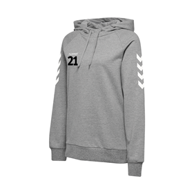 HUMMEL GO COTTON HOODIE WN´S GREY MELANGE L