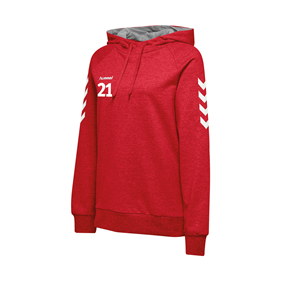 HUMMEL GO COTTON HOODIE WN´S TRUE RED L