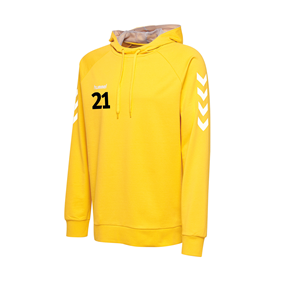 HUMMEL GO COTTON HOODIE YELLOW L