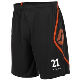 STANNO PISA SHORT BLACK-SHOCKING ORANGE L