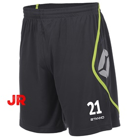STANNO PISA SHORT JR ANTHRACITE-NEON YELLOW 116 CL