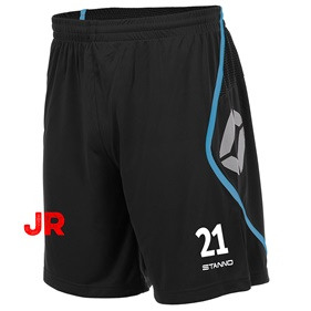 STANNO PISA SHORT JR BLACK-AQUA BLUE 116 CL