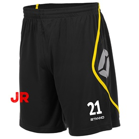 STANNO PISA SHORT JR BLACK-YELLOW 116 CL