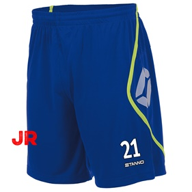 STANNO PISA SHORT JR DEEP BLUE-NEON YELLOW 116 CL