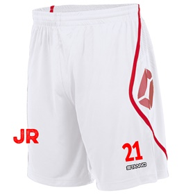STANNO PISA SHORT JR WHITE-RED 116 CL