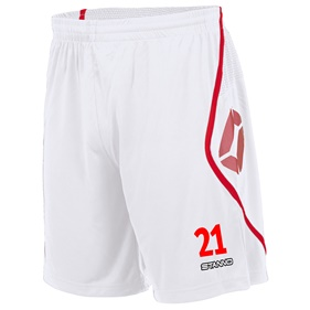 STANNO PISA SHORT WHITE-RED L