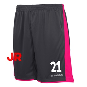 STANNO MILAN JR SHORTS ANTHRACITE-PINK 116 CL