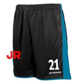 STANNO MILAN JR SHORTS BLACK-AQUA 116 CL