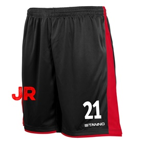 STANNO MILAN JR SHORTS BLACK-RED 116 CL
