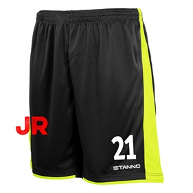 STANNO MILAN JR SHORTS BLACK-YELLOW 116 CL