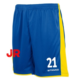 STANNO MILAN JR SHORTS ROYAL-YELLOW 116 CL