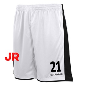 STANNO MILAN JR SHORTS WHITE-BLACK 116 CL