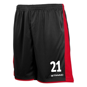 STANNO MILAN SHORTS BLACK-RED L