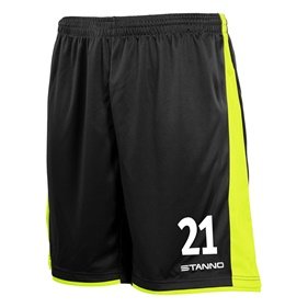 STANNO MILAN SHORTS BLACK-YELLOW L