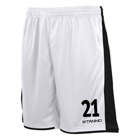 STANNO MILAN SHORTS WHITE-BLACK L