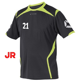 STANNO TORINO JR SHIRT ANTHRACITE-NEON YELLOW 116 CL