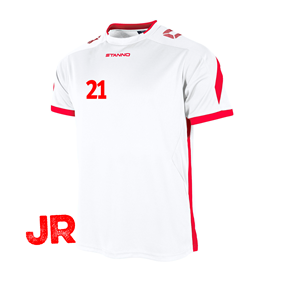 STANNO DRIVE TRÖJA WHITE-RED JR 116 CL