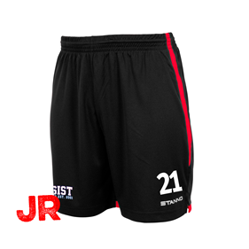 STANNO FOCUS SHORTS BLACK-RED JR 128 CL
